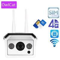 OwlCat Full HD 1080 P 960 P Çift Anten GSM 3G 4G Telefonu SIM kart SD Kart Açık Bullet IP Kamera Kablosuz AP Wifi CCTV Kamera
