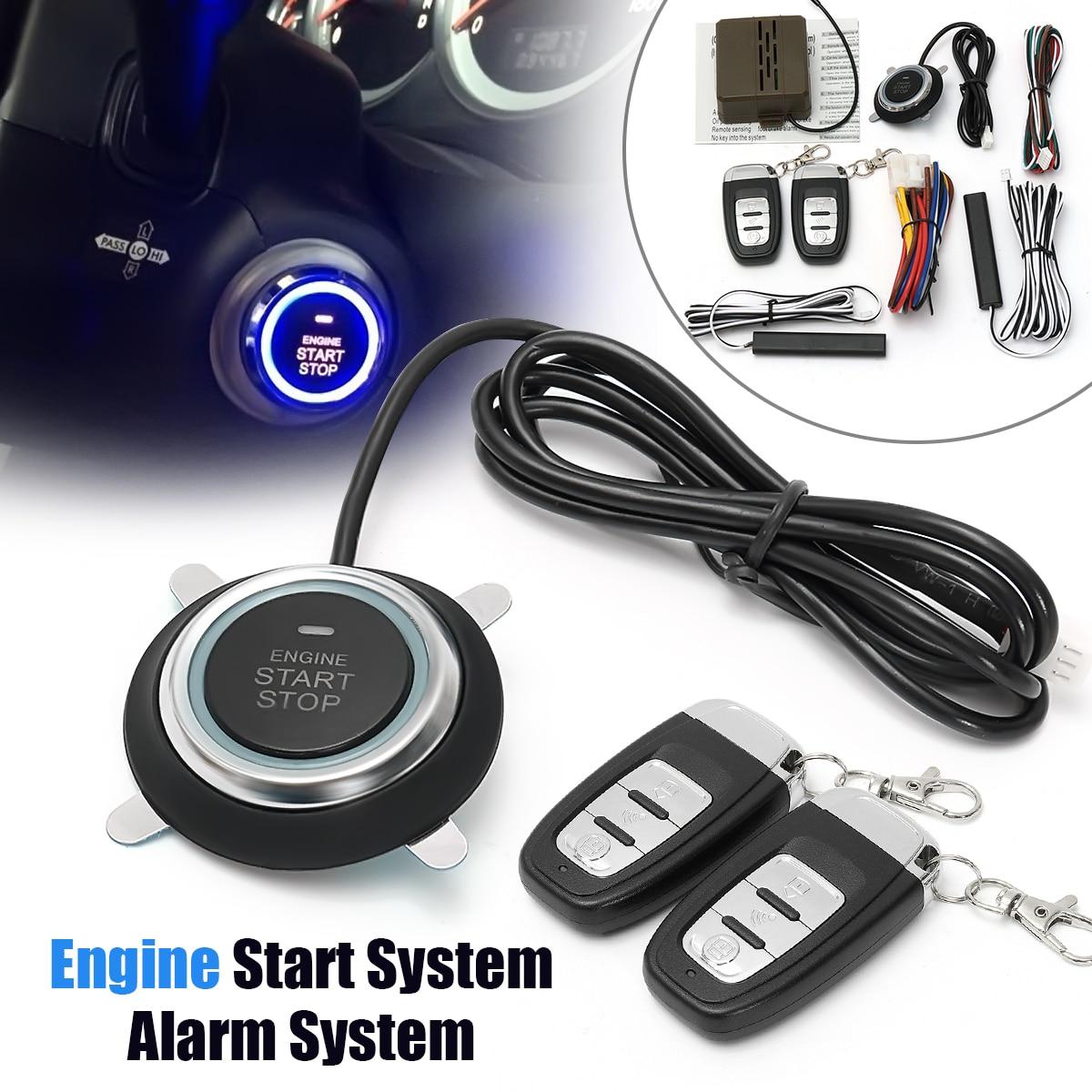 Système d'arrêt de démarrage par bouton-poussoir de voiture multi fonction Smart E modèles télécommande alarme de voiture démarrage sans clé système d'entrée accessoires