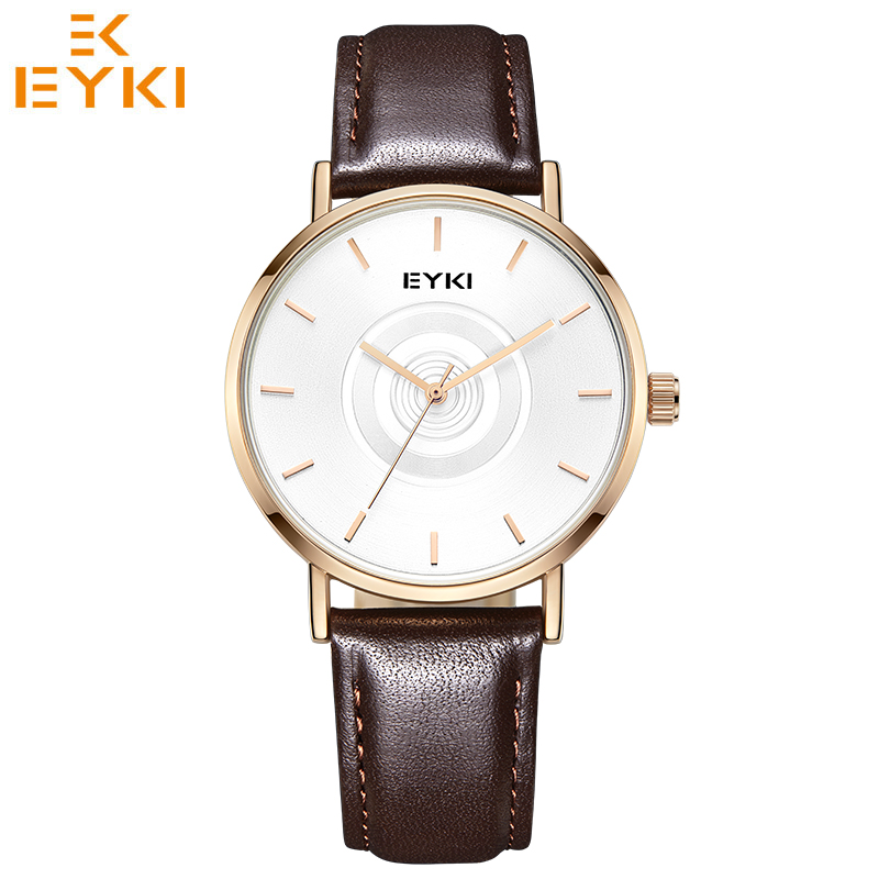 EYKI Business Men Watches Top Brand Luxury Couple Lover Gift Quartz Watch Leather Strap Relogio Masculino Reloj Mujer Horloge