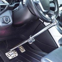 Stainless Steel Steering Wheel Lock Heavy Duty Extendable Anti Theft Car Steering Wheel Clutch Brake Lock