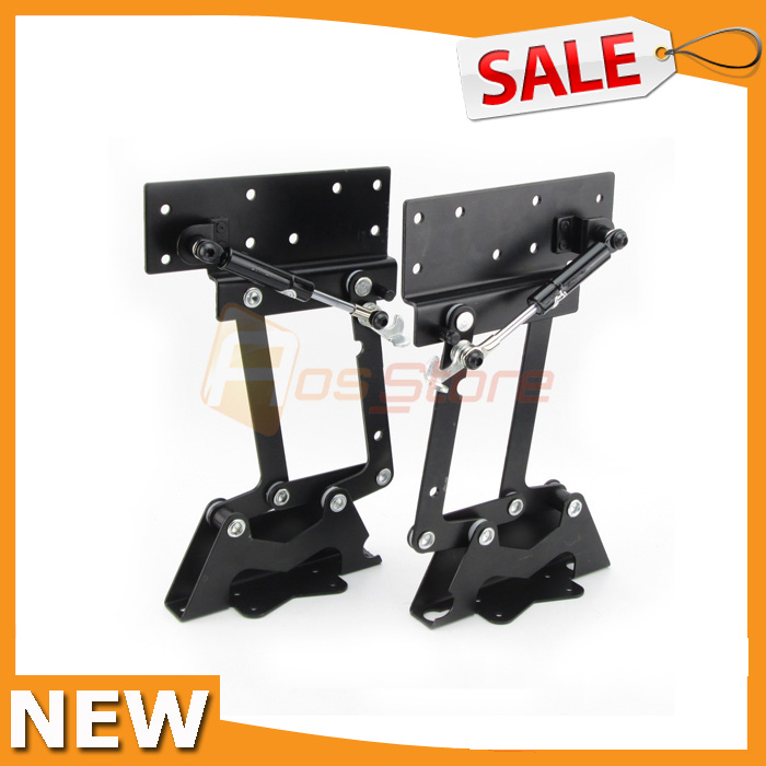 Lift Up Top Coffee Table DIY Hardware Furniture Hinge Gas Hydraulic 66lbs  30kg Table Lift Mechanism
