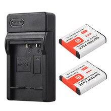 2x NP BG1 FG1 Digital Battery Bateria 1300mAh Charger For Sony NP BG1 NP FG1 DSC