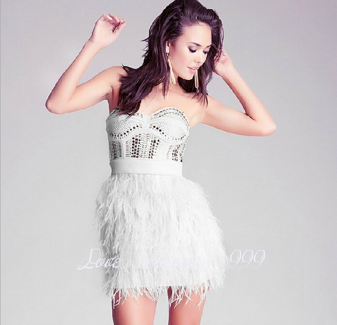 Popular Ostrich Feather Cocktail Dress-Buy Cheap Ostrich Feather ...