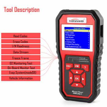 OBD OBD2 Scanner Car Diagnostics Tool for Engine KONNWEI KW850 Universal Code Reader Multi-language OBDII Automotive Scanner