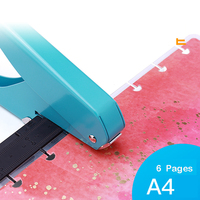 Buraco de cogumelo caderno perfurador scrapbooking buraco perfurador manual livro solto folha máquina de perfuração manual perfurador de furo de papel|Furador| |  -