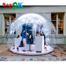 PVC inflatable transparent dome tent, inflatable clear bubble dome tent for advertising, exhibition, party, event