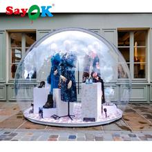 купить PVC inflatable transparent dome tent, inflatable clear bubble dome tent for advertising, exhibition, party, event онлайн