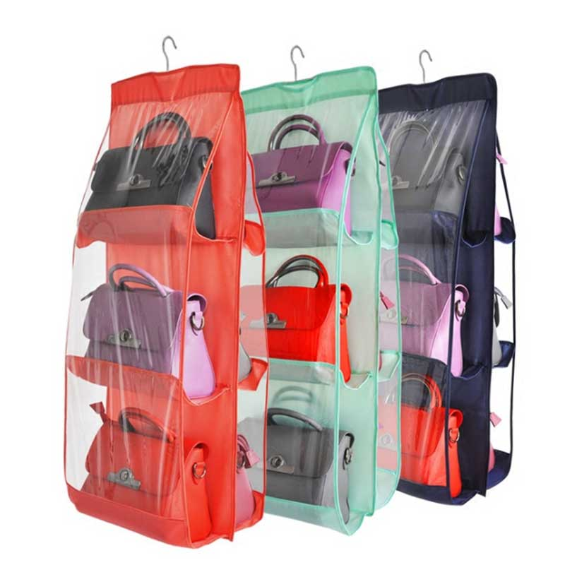 Family Organizer 6 Pockets Backpack Handbag Storage Bag Hanging Shoe Save Space Closet Rack Hangers Home Supplies TB Sal