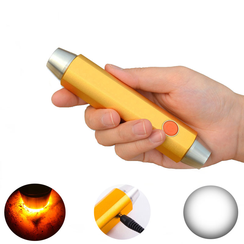 Yellow Light and White Light 5W Gem <font><b>LED</b></font> Torch for Jewelry Gemstone Identification, <font><b>365NM</b></font> Black Light Rechargeable <font><b>LED</b></font> Flashlight