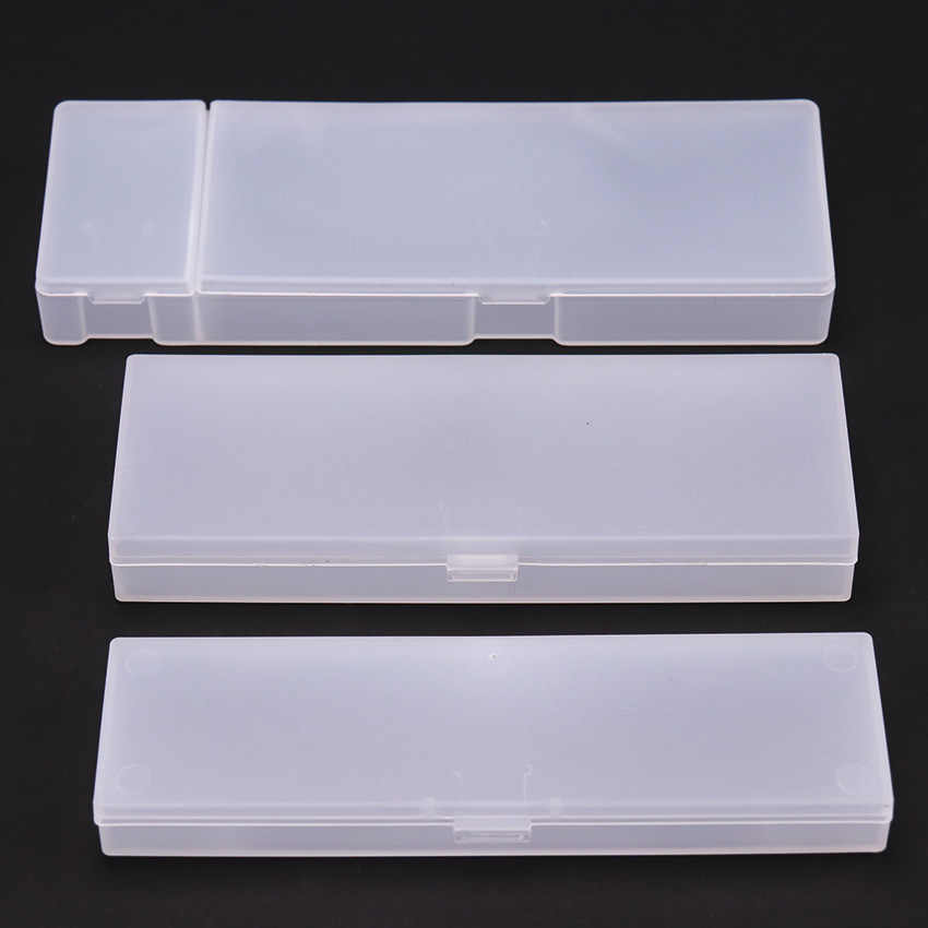 Transparent Frosted Pencil Case Pencil Box Plastic Storage Box Student Learning Stationery Office Supplies