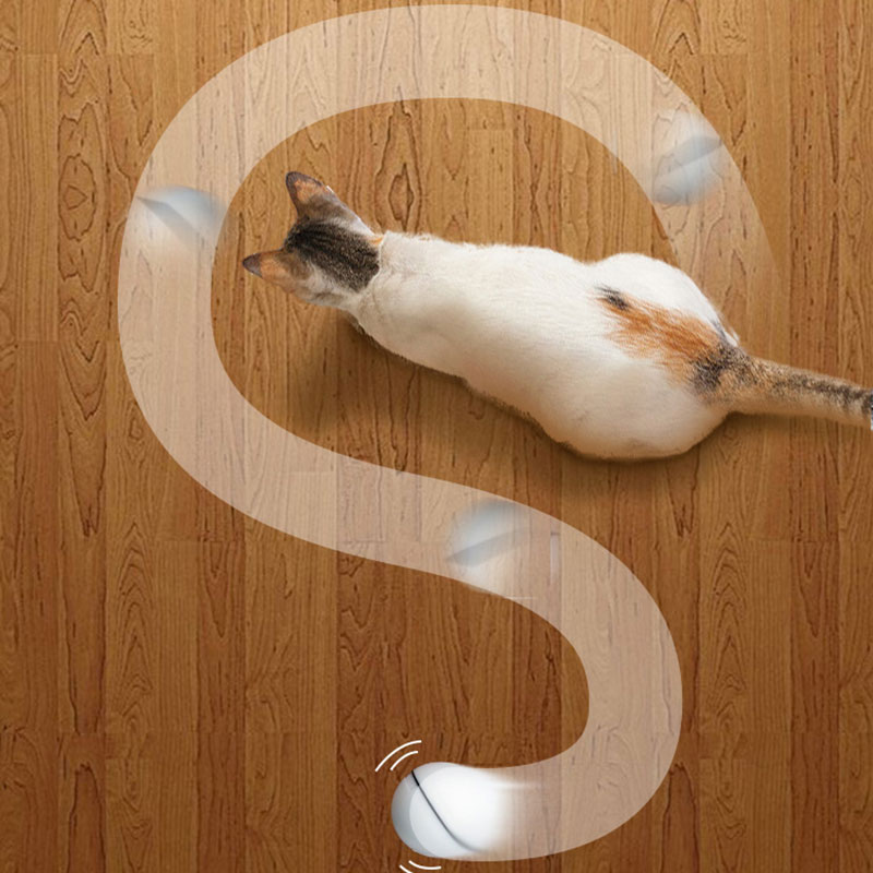 2.53'' Interactive Cat Toy 360 Degree Self Rotating Automatic Rolling Cat Ball Toy With LED Light Beam Cats Products For Pets
