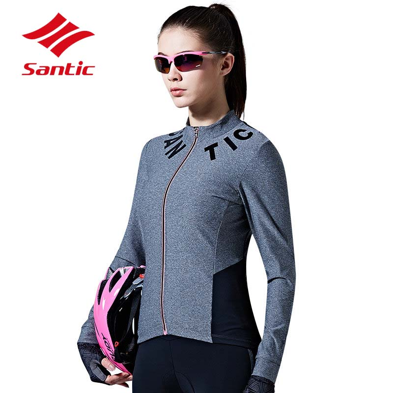 Santic Cycling Jersey Women Full Long Sleeve Breathable Reflective Bike Jersey Top Spring Autumn Cycling Clothing Ropa Ciclismo 2017 spring summer cycling jersey women long sleeve mountain biking jerseys shirt outdoor sports clothing ropa ciclismo santic