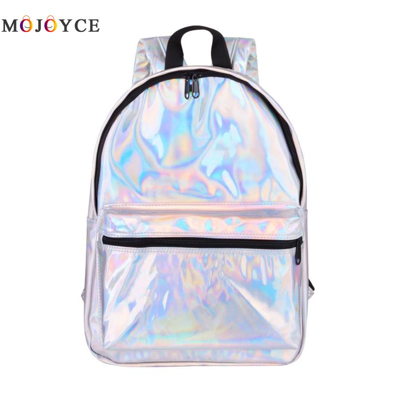 Travel Women Backpack Holographic Laser School Bookbag Big Capacity Casual Girls