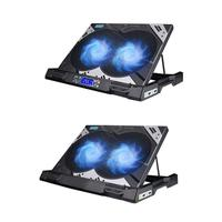 Tmddotda K2 USB Laptop Cooler Air Cooling Double Fans CPU Cooler for Notebook computer hardware cooling Laptops Holder For Game
