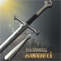 Ancient Rome King Sabre Film Souvenir Collection Cosplay Artwork Warrior Cross Edge Stainless Roman Knight Sword