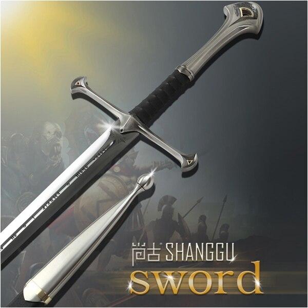 Ancien souvenir de film du roi sabre romain. Épée de chevalier romain en acier inoxydable épée d'aragorn II Narthil Elendil