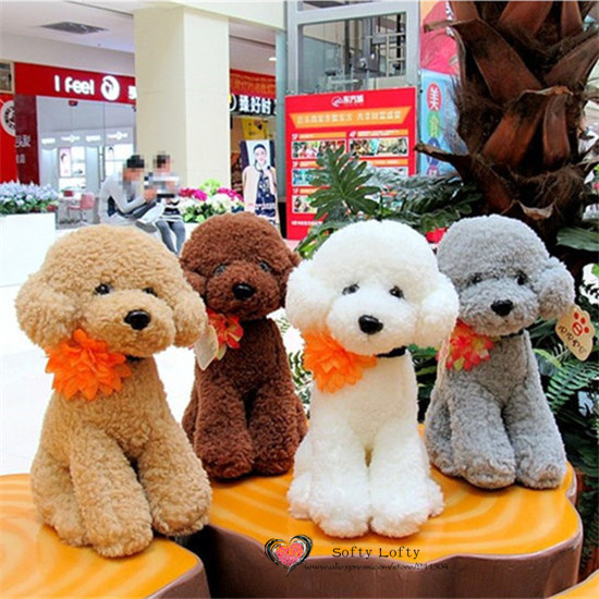 Free shipping 1PC Retail Life like Teddy Poodle Dogs