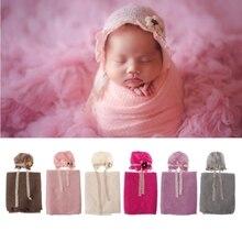 Реквизит для фотосессии новорожденных, детский вязаный костюм, шапки для фотосессии, стрейч-одеяло, набор, подарок для ребенка, реквизит для фотосессии, аксессуары