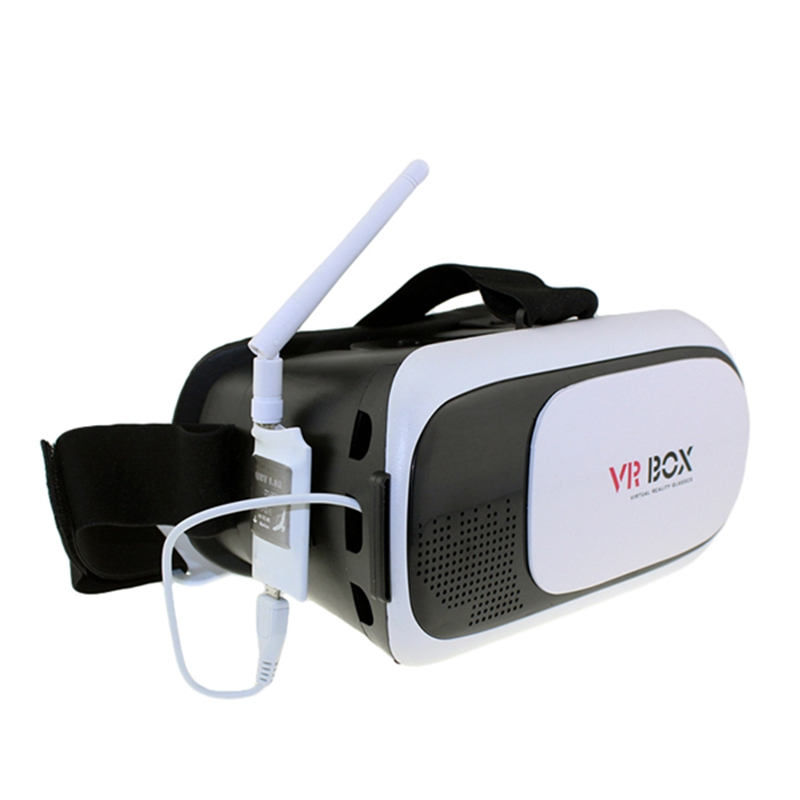 VR BOX Virtual Reality Goggles Cardboard headset 3D Glass + Mini 5.8G FPV Receiver UVC Video Downlink OTG VR Android Phone fpv mini 5 8g 150ch mini fpv receiver uvc video downlink otg vr android phone tablet pc fpv mobile phone display receiver