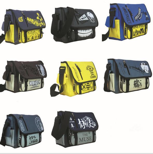 Naruto/Tokio Ghoul/Una Sola Pieza/Ataque en Titán/Mi Vecino Totoro School Messenger Bag Bolso de la Honda de La Taleguilla anime solos bolsos de hombro