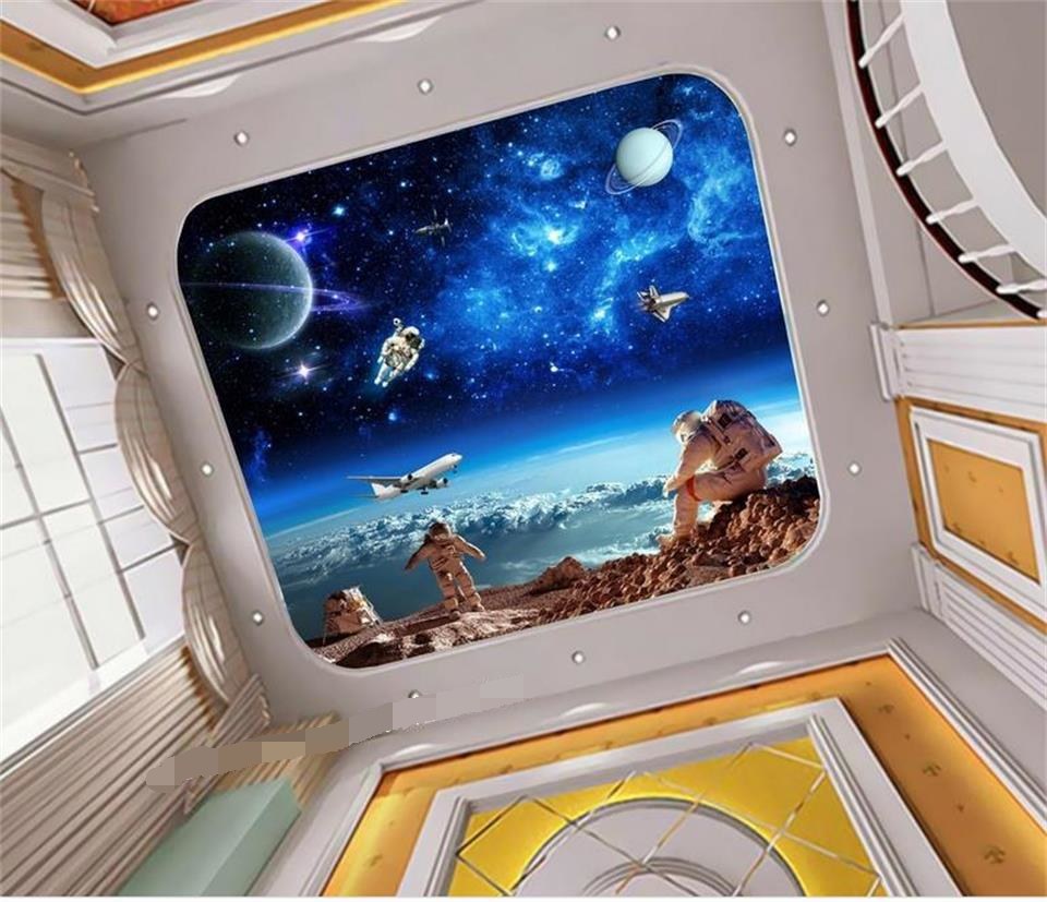 Us 14 99 50 Off 3d Ceiling Wallpaper Custom Murals Non Woven Wall Paper Sticker The Universe Galaxy Painting 3d Wall Photo Wallpaper For Wall 3d In