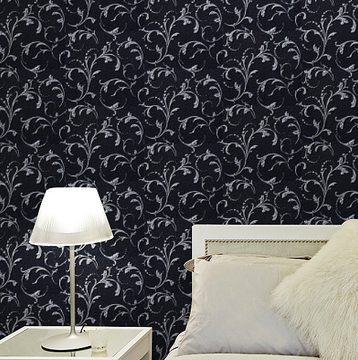 10M*53CM European black leaf of lang Chinese trumpet creeper wall paper bedroom living room TV setting wall Spread the wallpaper contracted ou lang chinese trumpet creeper wallpaper in the living room tv setting wall stickers paper non woven 3 d tv wall