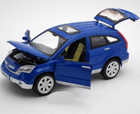 1:24 alloy pull back model car,high simulation Honda CRV,4 open the door,musical&flashing toy vehicles,free shipping