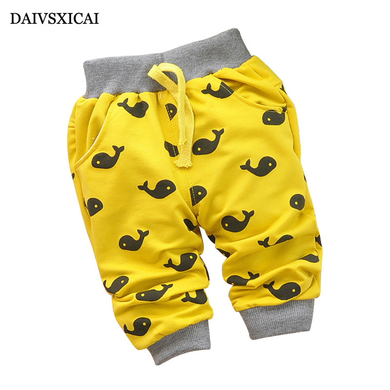 Daivsxicai Fashion Pants Boy Cute Cartoon Fish Spring Baby Boy Pants Autumn Trousers High Quality Pant For Baby 7-24 Month