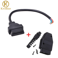Universal OBD2 M F Male 16 Pin Female Open Extension Connector Cable Assembly OBD 2 OBD