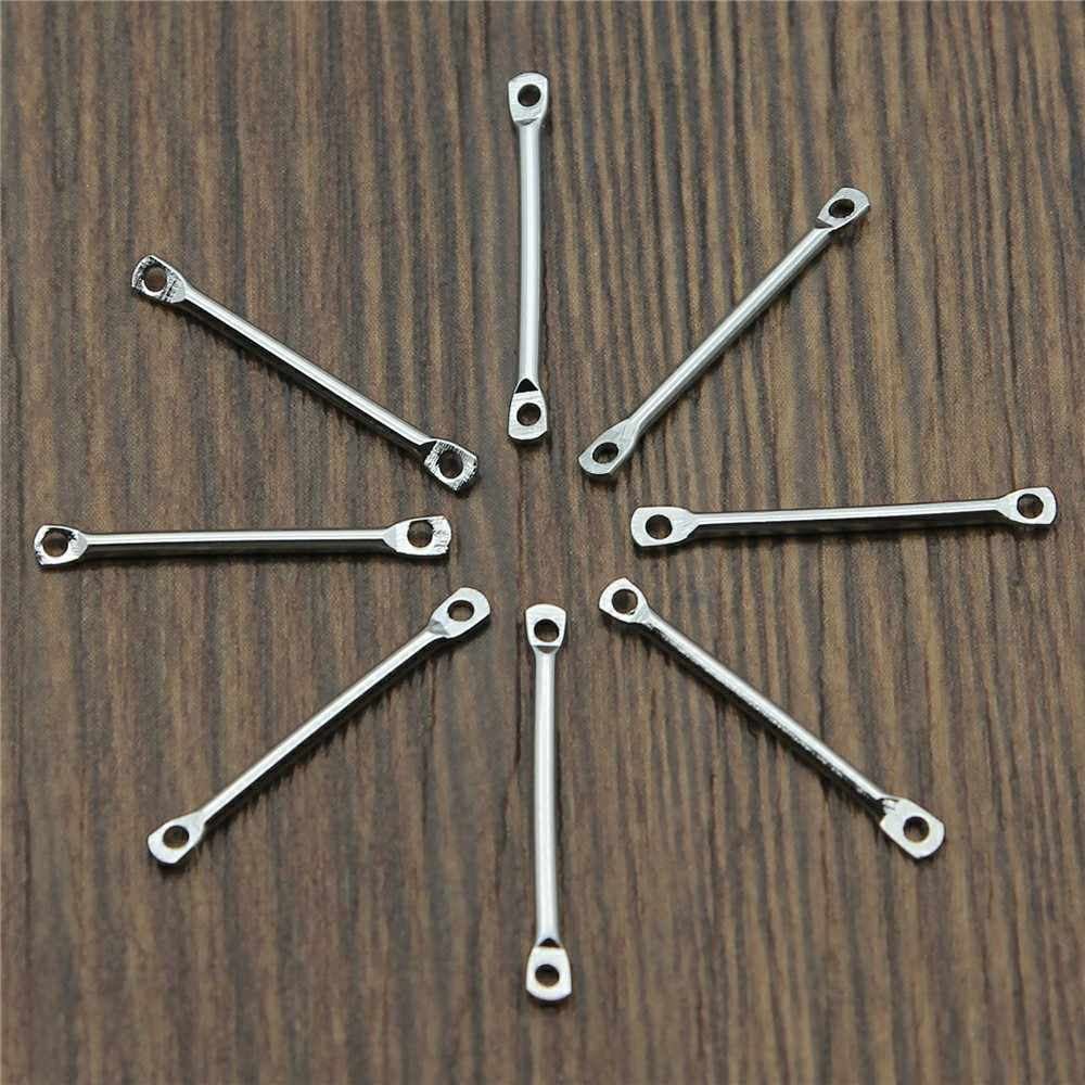 4 Colors 20mm 25mm 30mm 35mm 40mm Strip Connector Jewelry Findings For Earring Necklace Copper Material