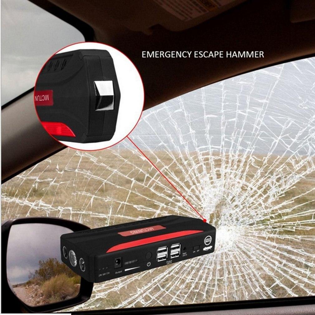 Multi fonction saut démarreur Portable 68800 mAh 4 USB voiture alimentation Rechargeable batterie externe haute puissance batterie accessoire