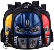 New High School, PupilsSchool Bag Grade Hard Shell Car Children Waterproof 3D Flash Lamp Shoulder