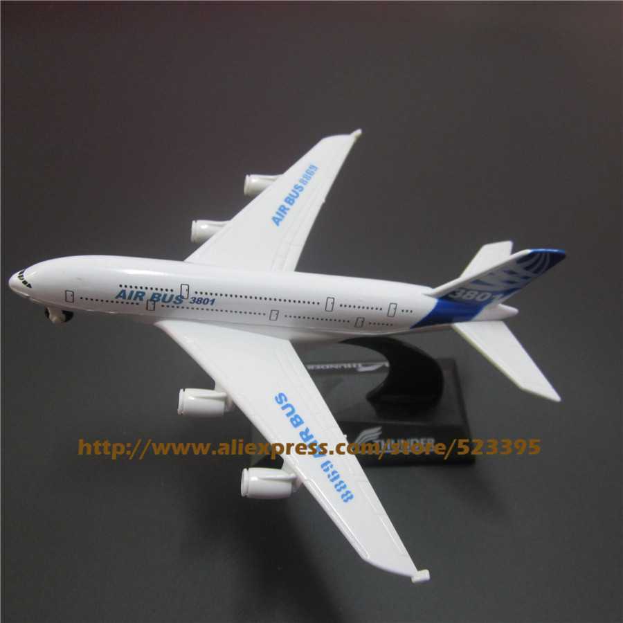 14cm Alloy Prototype Airbus A380 Airlines ProtoMech Development Pull Back Plane Model Aircraft Airplane Model W Stand Toy Gift model aircraft