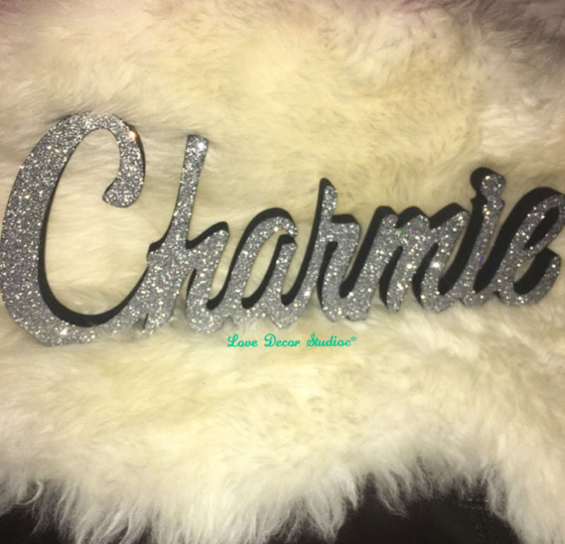 Glittered Name word signs Kids Personalized Wooden Name Signs ...