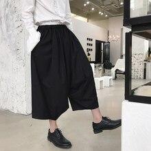 Moda masculina Harem Pantalones Falda etapa desgaste trajes hombres Japón  estilo Kimono Casual Pantalón ancho aebfee862ec