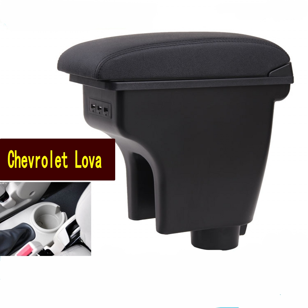 For Chevrolet <font><b>Aveo</b></font> T200 <font><b>T250</b></font> T255 armrest box central Store content box with cup holder ashtray USB <font><b>Aveo</b></font> armrests box image