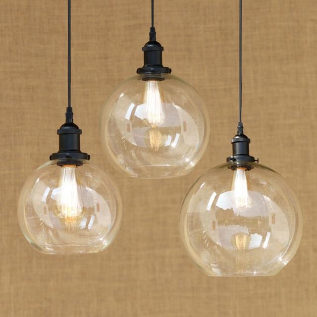 Modern spherical glass shade pendant lamp led edison bulb pendant modern spherical glass shade pendant lamp led edison bulb pendant light fixture for kitchen lights aloadofball Gallery