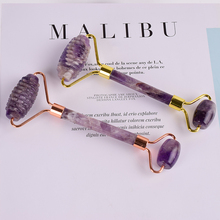 The New Amethyst Sawtooth Roller Face Scraping Tool Gua Sha Natural Stone Massage SPA Body Face Heal