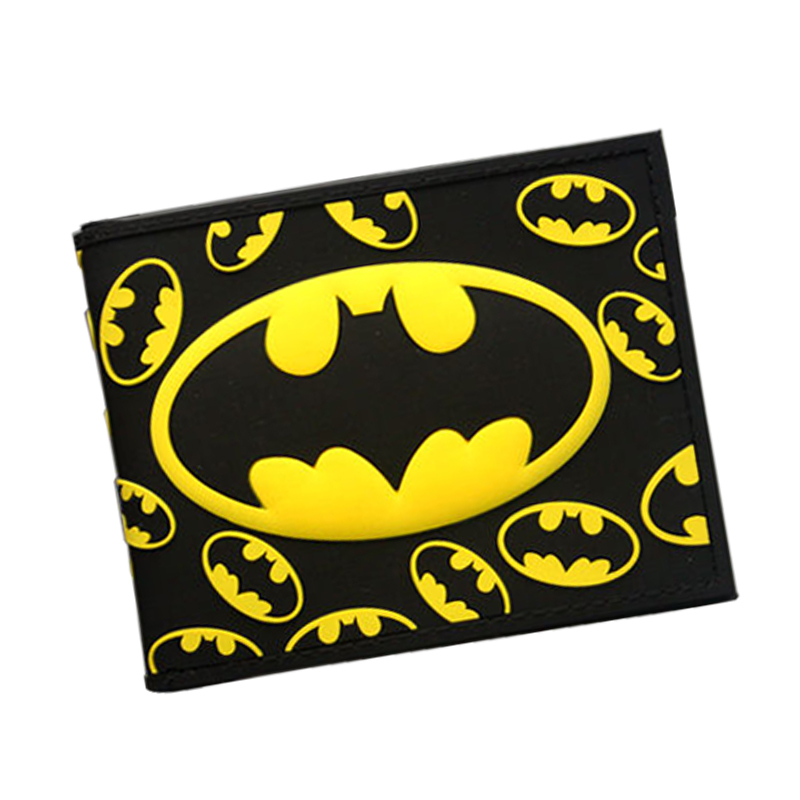 3D Batman Series Cartoon Wallet The Avengers Super Hero Batman Wallet For Teen Boy Girls Leather Purse Card Holder Comics Wallet pixels pacman wallet 3d embossing short purse for student boy girls slim silicone wallet game cartoon designer wallet billeteras