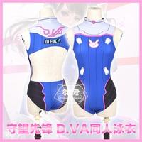 2017 New Clothing Made Anime OW D.VA Game Sexy Japanese Sukumizu Swimsuit Swimwear Cosplay Costume Bathing Suit