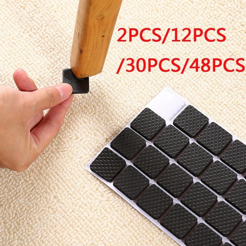 2/12/30/48Pcs Thick Skid Protection Pad Chair Stool Furniture Foot Sleeve Mat