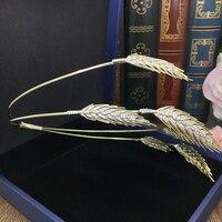 Wheat Spike Tiara Bride Crown Headband Wedding Hair Accessories Hairband Diadem Jewelry Bandeau Bijoux Cheveux Coroa WIGO0856