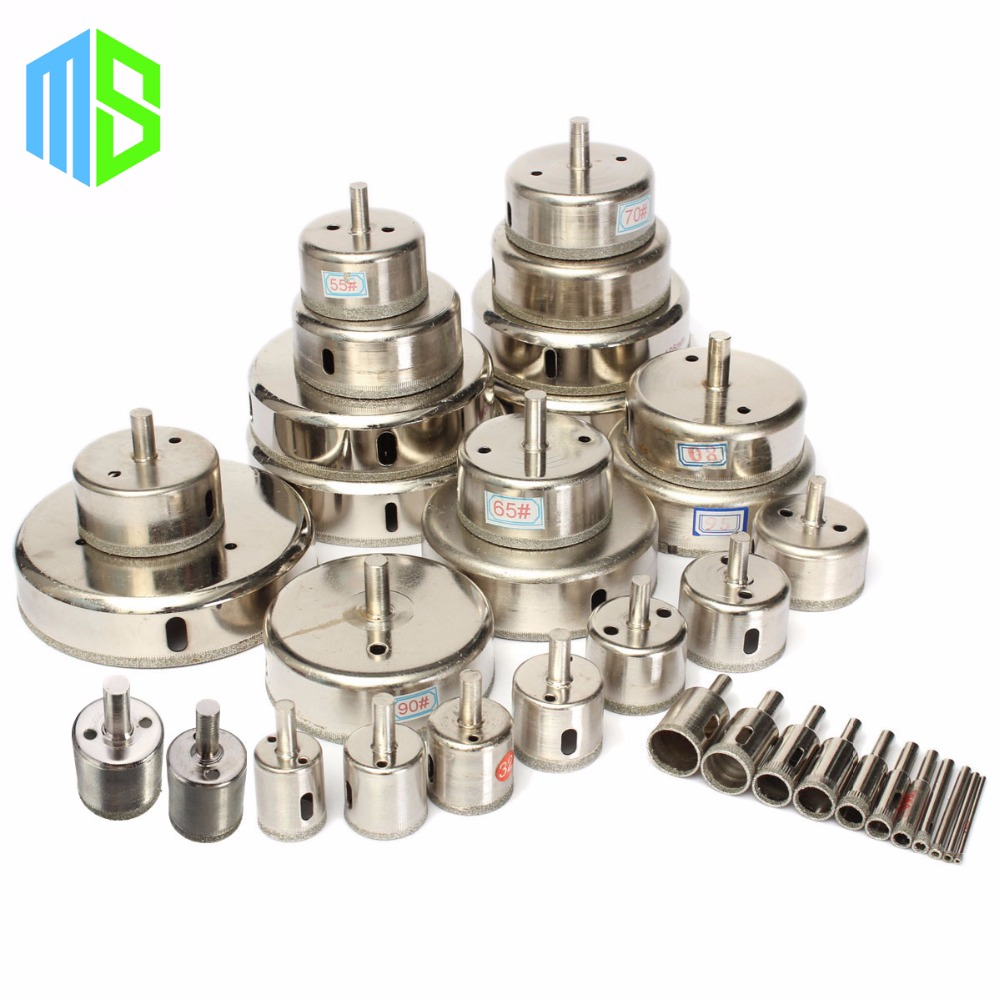 6~90mm Electroplated Diamond Coated Hole Saw Cutter Core Drilling Drill Bits For Masonry Glass Marble Tile Granite Ceramic Rock hexagon stamp mould die set punch for the single punch tablet press machine free shipping