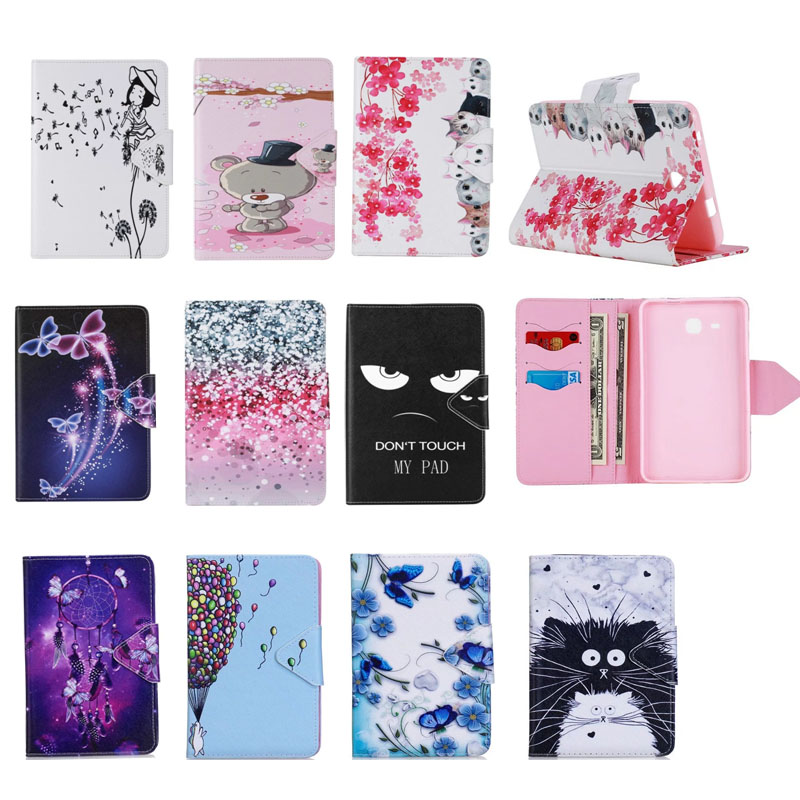 2016 Tab a6 7.0 Case For Samsung Galaxy Tab A 7.0 T280 T285 SM-T280 Case Cover Tablet cat butterfly Flip Leather Funda Shell аксессуар чехол it baggage for samsung galaxy tab a 7 sm t285 sm t280 иск кожа red itssgta70 3