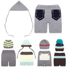 Baby Newborn Photography Props Accessories Crochet Knit Costume Crochet Baby Hat Caps Photo Props Fotografia Newborn