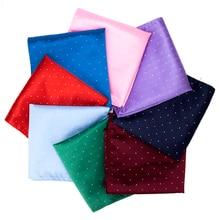 IHGSNMB Fashion Dot Cravat Hankerchief Hankies Men's Tie Pocket Solid Formal Wedding 24*24cm Dress Shirt Accessories Necktie Men