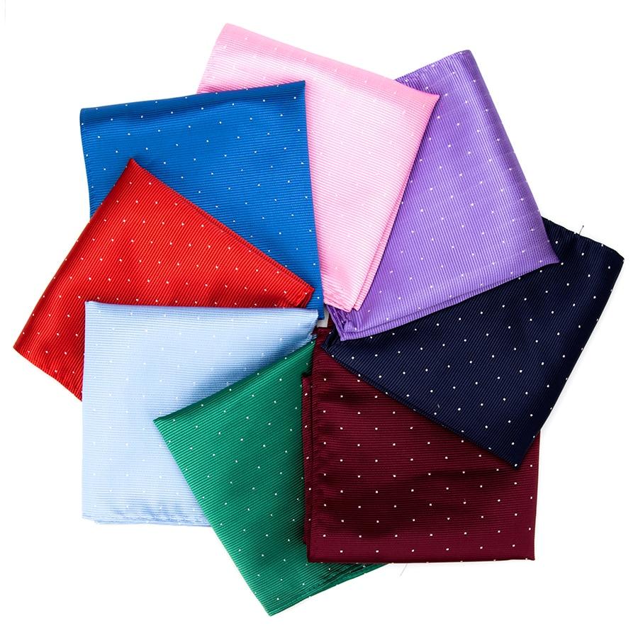 IHGSNMB Fashion Dot Cravat Hankerchief Hankies Men 39 s Tie Pocket Solid Formal Wedding 24 24cm Dress Shirt Accessories Necktie Men in Men 39 s Ties amp Handkerchiefs from Apparel Accessories