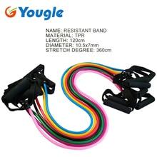 YOUGLE Colorful Pilates Latex Resistance Tubing