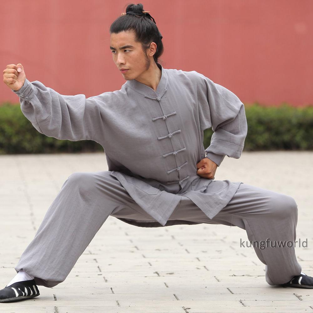24 цвета Льняной уданский даосский форма для боевых искусств Tai chi Униформа китайский ушу Боевые искусства кунг-фу крыло костюм для вин-Чунь