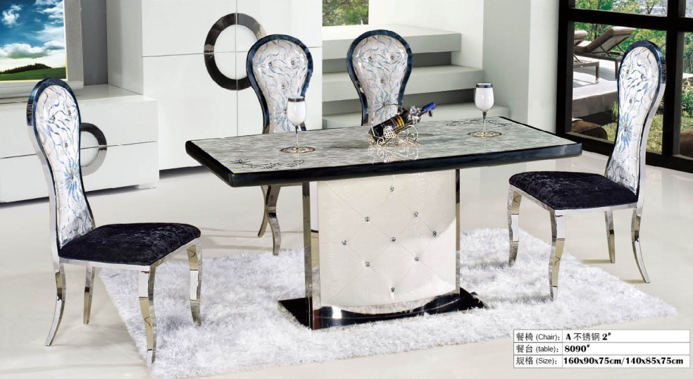 Fashion Dining Room Natural Marble Dinning Table In Dining Tables From Furnit